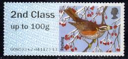 GB 2015 QE2 2nd Class Post & Go Redwing Winter Fur Unused No Gum ( 1027 ) - Great Britain