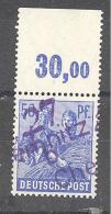 Reich   Michel #  178 V ***  Oberrand   BPP Geprüft - Soviet Zone
