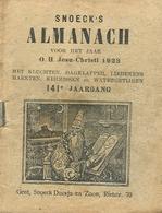 Snoeck's Almanach 1923 (9x11cm) 141e Jaargang (Gent Snoeck Dueaju En Zoon Rietstraat) - Antique