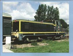 Photo Cartonnée Locomotive Diesel 2 Scans - Railway
