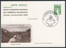 France Rep. Française 1981 Card / Karte / Carte Postale - Viaduc Gisclard à Fontpédrouse /  Viadukt / Suspension Bridge - Treinen