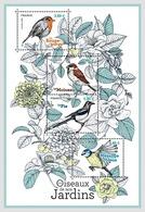 France 2018 MS MNH The Birds Of Our Gardens Les  Oiseaux De Nos Jardins Bird Oiseau - Sparrows