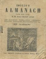 Snoeck's Almanach 1925 (9x11cm) 143e Jaargang (Gent Snoeck Dueaju En Zoon Rietstraat) - Antique