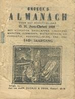 Snoeck's Almanach 1928 (9x11cm) 146e Jaargang (Gent Snoeck Dueaju En Zoon Rietstraat) Met Bijvoegsel - Antique