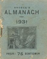 Snoeck's Almanach 1931 (9x11cm) 149e Jaargang (Gent Snoeck Dueaju En Zoon ) - Antique