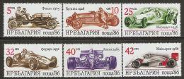 Bulgaria 1986 Mi# 3537-3542 ** MNH - Sports Cars - Bulgarien