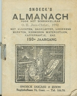 Snoeck's Almanach 1932 (9x11cm) 150e Jaargang (Gent Snoeck Dueaju En Zoon  Begijnhoflaan) Met Bijvoegsel - Antique