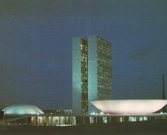 CARTE POSTALE DU BRESIL - BRASILIA - VUE NOCTURNE DU CONGRES NATIONAL - Brasilia