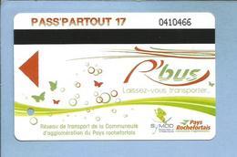 Rochefort-sur-Mer (17) Pass'partout 17 R'bus Pays Rochefortais Symod 20-07-2012 - 2 Scans - Bus