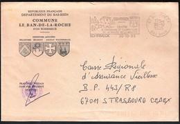 France Schirmeck 1985 / Commune De Le Ban De La Roche / Coat Of Arms / Tourism, Castle / Machine Stamp - Postmark Collection (Covers)
