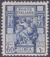 COLONIE ITALIANE LIBIA 1926-29 Sibilla 60c Dent.11 Nuovo TL, MH* - Libye