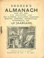 Snoeck's Almanach 1938 (9x11cm) 156e Jaargang (Gent Snoeck Dueaju En Zoon Begijnhoflaan) - Antique