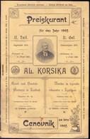 SLOVENIA - VRTLARSTVO In LJUBLJANI - CENOVNIK - 1907 - B. Plantes Fleuries & Fleurs