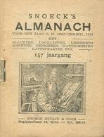 Snoeck's Almanach 1939 (9x11cm) 157e Jaargang (Gent Snoeck Dueaju En Zoon Begijnhoflaan) - Antique