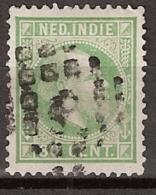 Ned Indie 1870 Koning Willem III. 30 Cent. NVPH 14K 12,5x12,5 Grote Gaten - Nederlands-Indië