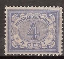 Ned Indie 1909 Cijfer. 4ct  NVPH 45 Ongestempeld. Zie Beschrijving - Nederlands-Indië