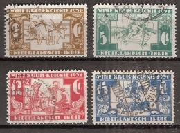 Ned Indie 1931 Witte Kruis NVPH 172-175 Gestempeld/cancelled - Indes Néerlandaises