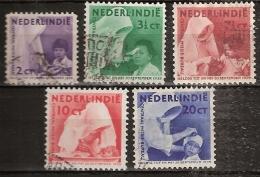 Ned Indie 1938 Missie. NVPH 241-245 Gestempeld/ Cancelled - Nederlands-Indië