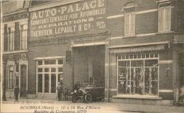 ROUBAIX     10 à 16 Rue D'Alsace Garage Auto -Palace  Therssen-Lepault(vieille Automobile, Pompe à Esence,vitrine Du Gar - Roubaix