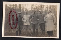 P815 - Carte Photo De 5 Militaires Poilus à Identifier - WW1 - Guerra 1914-18