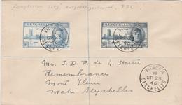 Seychelles Lettre De Victoria 1946 - Seychelles (...-1976)