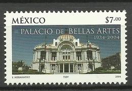 MEXICO  2004  70th ANNIVERSARY OF FINE ARTS PALACE MNH - Mexico