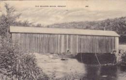 Old Granger Bridge Vermont USA (pk47325) - United States
