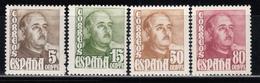 1948   EDIFIL Nº  1020 / 1023   MNH - 1931-Hoy: 2ª República - ... Juan Carlos I