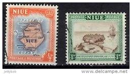 NIUE 1950 0.5d, 1d Used - Niue