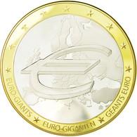 France, Médaille, 10 Ans De L'Euro, 2009, FDC, Cuivre Plaqué Argent - France