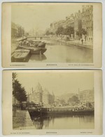 Lot De 3 Cabinets. Amstedam. Vue Du Canal. Bâtiment Antique. Le Jardin Zoologique. - Alte (vor 1900)