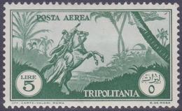 COLONIE ITALIANE TRIPOLITANIA 1931-32 POSTA AEREA L.5 Nuovo TL, MH* - Tripolitania