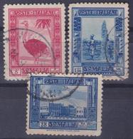 COLONIE ITALIANE SOMALIA 1932 Pittorica 3v Dent.12 Usati - Somalia