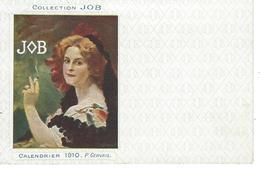 """Belle Carte Pub Collection JOB """" Calendrier 1910 """" De L'illustrateur P.Gervais - Illustrateurs & Photographes"""