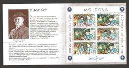 Moldova, Moldawien, Moldavia, 2007  Europa CEPT  Booklet, MH 11 - Moldova