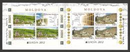Moldova, Moldawien, Moldavia, 2012  Europa CEPT  Booklet, MH 17 - Moldova