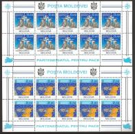 Moldova, Moldawien, Moldavia, 1994 Michel 128-129 Sheetlets, Kleinbogen - Moldova