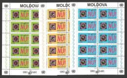 Moldova, Moldawien, Moldavia, 1995 Michel 184-186 Sheetlets, Kleinbogen UNO - Moldova