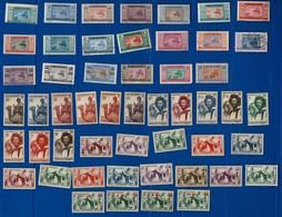 MAURITANIE 91 Timbres-Poste, En Majorité Neufs. Tous Scannés Recto. - Mauritanie (1906-1944)