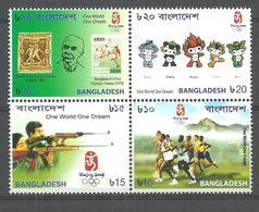 BANGLADESH STAMPS SET 2002 BEIJING OLYMPICS , STAMP ON STAMP MNH - Bangladesch