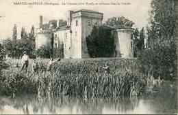 MAREUIL-SUR-BELLE - Le Château (côté Nord), Se Reflétant Dans La Conche - France