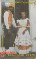 ANTIGUA & BARBUDA(GPT) - The National Dress, CN : 97CATA(0 With Barred), Tirage %45000, Used - Antigua And Barbuda