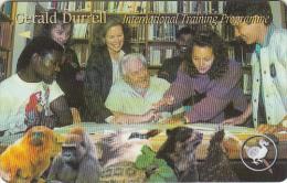 JERSEY ISL.(GPT) - Animals, Gerald Durell/Training Programme, CN : 46JERG(0 With Barred), Tirage %20000, Used - United Kingdom