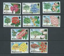 Montserrat 1980 OHMS Official Overprint On Flowering Tree Definitive Set 10 FU - Montserrat