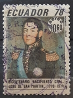 ECUADOR 1978 Airmail - The 200th Anniversary Of The Birth Of General San Martin. USADO - USED. - Ecuador