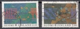 FINLAND - 1991 - Serie Completa Usata: Yvert 1110/1111, 2 Valori, Come Da Immagine. - Finlande