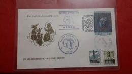 Le Chili Sur Enveloppe Un Courrier Antarctique - Vols Polaires