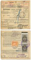 Germany 1937 Parcel Card Berlin To Zagreb, Yugoslavia Postage Due & Revenues - Briefe U. Dokumente