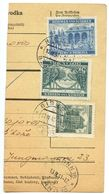 Czechoslovakia Bohemia & Moravia 1941 Parcel Card Bzenec / Bisenz, Scott 43, 44, 47 - Bohemia & Moravia