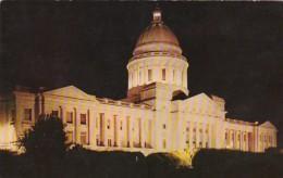 Arkansas Little Rock State Capitol Building At Night - Little Rock